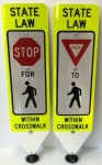 Pedestrian crosswalk signs
