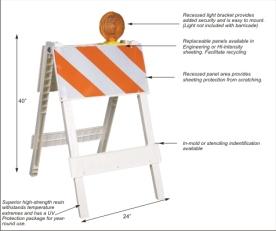 classic folding barricade