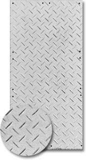 white ground protection mat